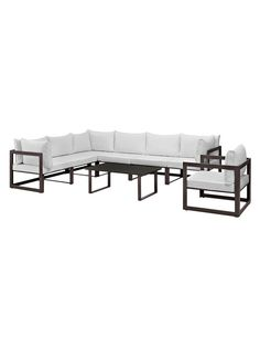 Fortuna Patio Sectional Sofa Set (8 PC) from Metal Moment: Outdoor Furniture & Accents on Gilt