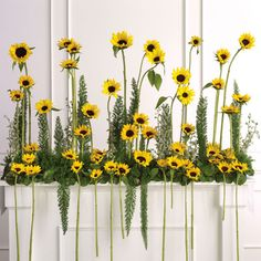 Sunflower altar arrangement
