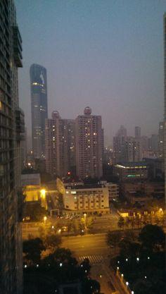 Shanghai night. Photo by blueprinteffects. #architecture