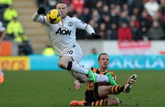 Credit: Lindsey Parnaby/AFP/Getty Images Wayne Rooney is already in the thick of it with Meyler