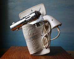 357 Magnum Handgun Hair Dryer complete with plastic Holster. #Vintage #Novelty #Pistol #Handgun #Hair #Beauty #Humor