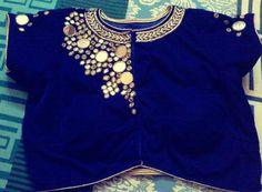 Mirror work blouse.