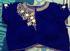 Mirror work blouse.