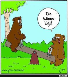 Die Wippe lügt! | Lustige Bilder, Sprüche, Witze, echt lustig