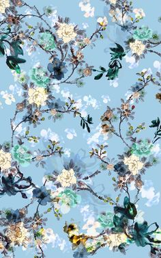 design wallpaper Chinoiserie-Chic contest on Behance Vintage Flowers Wallpaper, Flower Background Wallpaper, Flower Phone Wallpaper, Cute Wallpaper Backgrounds, Colorful Wallpaper, Aesthetic Iphone Wallpaper, Cute Wallpapers, Aesthetic Wallpapers, Vintage Flower Backgrounds