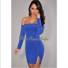 """Blue """"night out """" dress  Hot Miami styles dress! Reposh! Bought from another posher new with tags and never wore. Perfect dress for going out. Long sleeves and a zipper back. Thick material.**open to offers ,please use offer button** brand new with tag!! Hot miami styles  Dresses"""