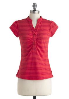 Cinnamon Citizen Top. Spice up a neutral-hued skirt or pleat-front capris by donning this bright, striped top! #red #modcloth