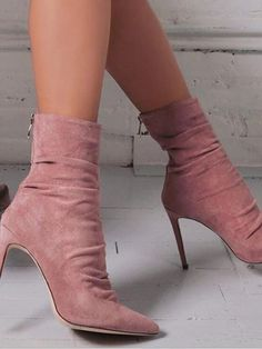 f79198591299 New Pink Point Toe Stiletto Fashion Ankle Shoes