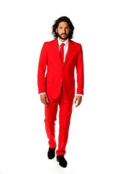 OppoSuits Men's Red Devil Party Costume Suit, Red, 48 >>> Click here for more details @