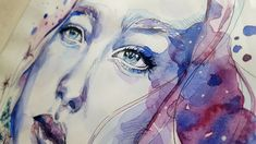 Free Image on Pixabay - Art, Painting, Watercolor, Face Watercolor Face, Watercolor Art Diy, Watercolor Art Paintings, Pocahontas, Online Drawing Course, Face Images, Collage, Art Competitions, Painting Videos