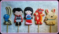 Cookies Mulan, Mulan Disney, Princesa, Princesss, Sugar Cookies, Biscoitos Decorados, Decorated Cookie
