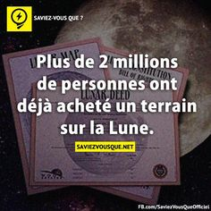 More than 2 million people have already purchased land on the moon. Good To Know, Did You Know, French Lessons, True Facts, Entrepreneur Quotes, Writing Prompts, Knowing You, Affirmations, Texts