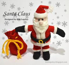 Santa Claus Crochet PDF Pattern Removable by KimLapsleyCrochets