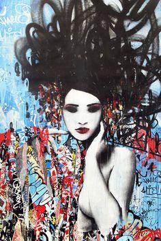 Hush é artista inglês que utiliza as figuras das Gueixas japonesas para realizar um trabalho de street art maravilhoso. Misturando elementos culturais diferentes, e com o uso de técnicas variadas, ele cria uma combinação perfeita entre o ocidente e o oriente, o moderno e o clássico. Suas intervenções são mais do que uma simples expressão artística, são uma verdadeira realização de sincretismo cultural, com classe e sutileza. Dois mundos que se encontram.