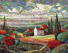 Мозаичная картина Приморский пейзаж