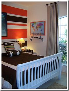 Boy's bedroom. Perfectly masculine, but not adult. http://bedroomdecor.tropicalhouseplants.net/