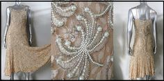 VINTAGE PEACH MADE IN INDIA PEARL BEADED DRESS SZ XL   eBay