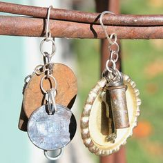 Metal Industrial Found Objects Earrings Jewelry / by DivaDesignArt, $50.00