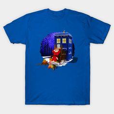 10th Doctor Relax before Christmas Unisex T-Shirt #tshirt #tee #clothing #painting #digital #ink #watercolor #comic #illustration #popart #christmas #newyear #tardisdoctorwho #doctorwho #tardis #timelord #badwolf #drwho #timetravel #starrynight
