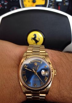 The latest member of my family. 18k Rolex Day Date Presidential.