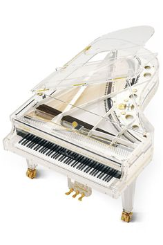 """Fashionable Design: Lenny Kravitz - """"I like bold textures and quirky materials like Lucite [in this Schimmel grand piano]"""""""