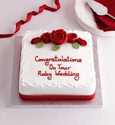ruby wedding cake marks and spencer pin by thamani on cake birthday birthday 19448