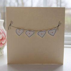handmade valentines cards  valentine  love  blank by dollywhatnot, £3.25