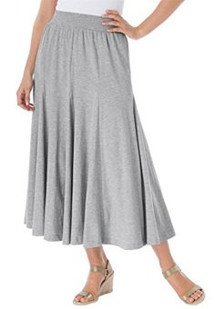 Women's Plus Size Skirt In Soft Knit, Pretty Colors (Heather Grey,L) Woman Within http://www.amazon.com/dp/B00P1L0LGG/ref=cm_sw_r_pi_dp_xfSjvb0B4WRER