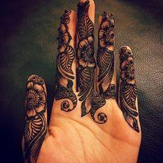 Dark floral and leaf mehndi patttern for fingers Mehndi Designs For Fingers, Fingers Design, Henna Tattoo Designs, Henna Mehndi, Mehendi, Tattoos, Floral, Dark, Collection