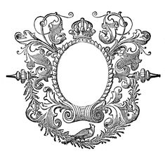 Darling Engraved Cherub in Frame - Image Download - The Graphics Fairy