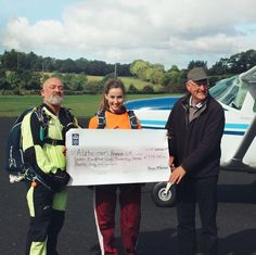 A HUGEE Thankyou to all who sponsored me doing the Skydive for Alzheimers it truly means alot! My final total raised is 801 - my original target was 500 so as you can imagine I couldnt be happier Cheers guyss Research is the only way to cure a disease Research is the only way to save a life Thankyou #thisonesforyougranda
