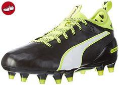 Puma Unisex-Kinder EvoTouch 3 TT Jr Fußballschuhe, Schwarz (Black-White-Safety Yellow 01), 35 EU