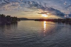 Sunset on Lewis Smith Lake in Cullman, Alabama