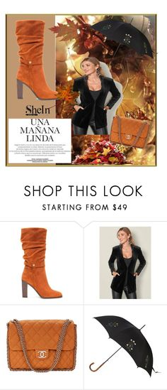 """""""shein"""" by nimeda ❤ liked on Polyvore featuring beauty, Donald J Pliner, Venus, Chanel and Alexander McQueen"""