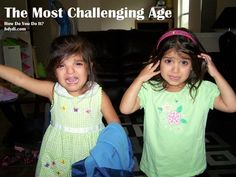 The Most Challenging Age - How Do You Do It?  4 moms of twins talk about the age/stage that was most challenging for their family. It's different for each one.