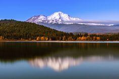 "Mount Shasta, or ""white mountain,"" is a snow-capped volcano that lies at the end of the Cascade mountain range in California. ~ The 10 Places in the US You Absolutely Have to Visit in 2015"