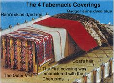Coverings of the Tabernacle   ... interesting to study.... things like this cause me to on my bible to verify... I hope it does the same for you.