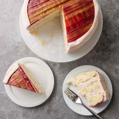 Rhubarb Ribbon Cake | Cook's Country