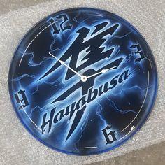 """Hayabusa Kanji 16"""" Clock - Blue"""