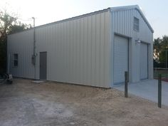 Metal Maintenance Building, located in Marathon Key, FL is intended to support Bonefish Yacht Clubs grounds and maintenance functions.
