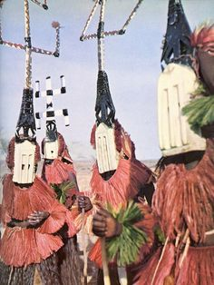 Dogon masked performers, Mali - I wonder if they are heavy.  How do they move in them?