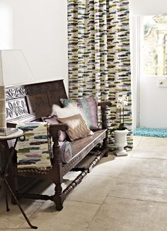 Prestigious Textiles have been designing beautiful interior fabrics and wallpapers for over 30 years. Choose from the UK's widest range of upholstery, cushion and curtain fabrics. Prestigious Textiles, Barcelona Chair, Modern Prints, Samba, Textile Design, Upholstery, Stylish, Wallpaper, Interior
