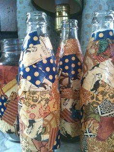 Kids Craft Idea: Decoupaged Vases