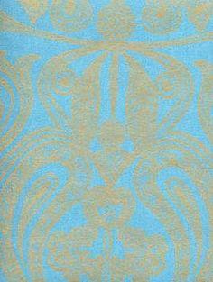 Cole & Son Wallpaper - Malabar - Turquoise $114.50 per roll #interiors #decor #design