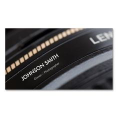 Camera Lens Store - Black and White Photographer Business Card Templates