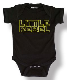 Look at this #zulilyfind! Black 'Little Rebel' Bodysuit - Infant #zulilyfinds
