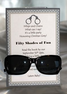 Invite and Delight: Fifty Shades of Fun I want to host this party - what a fun idea!