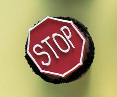 Stop Sign Cupcakes