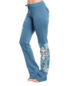 Blue Blinged Out Sweatpants
