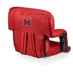 Miami of Ohio Redhawks Portable Backpack Beach Chair